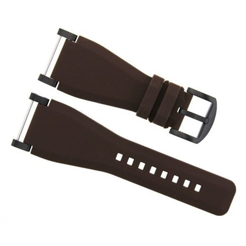 24MM SUUNTO CORE SILCONE RUBBER WATCH BAND STRAP + BLACK ADAPTER BROWN