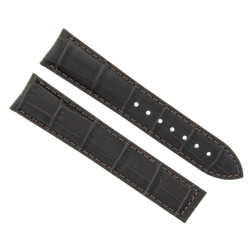 22MM LEATHER STRAP WATCH BAND FOR ZENITH WATCH DEPLOYMENT CLASP DARK BROWN