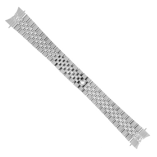 JUBILEE WATCH BAND SOLID LINK FOR ROLEX DATEJUST HIDDEN CLASP 20MM HEAVY S/STEEL