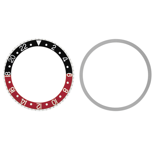 BEZEL & INSERT FOR ROLEX OLD GMT 1675 16750 16753 16758 BLACK/RED COKE INSTALLED