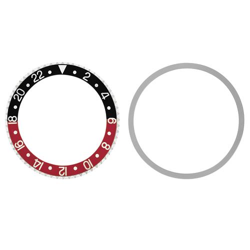 BEZEL & INSERT FOR ROLEX OLD GMT 1675 16750 16753 16758 BLACK/RED COKE INSTALLED