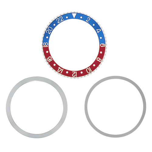 ROTATING + BEZEL + INSERT FOR ROLEX OLD GMT BLUE/RED 1670 1675 16750 16753 16758