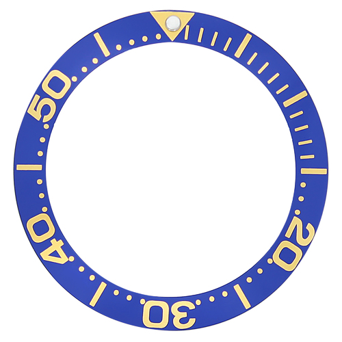 BEZEL INSERT FOR INVICTA  8928 PRO DIVER AUTO WATCH BLUE GOLD FONTS TOP QUALITY