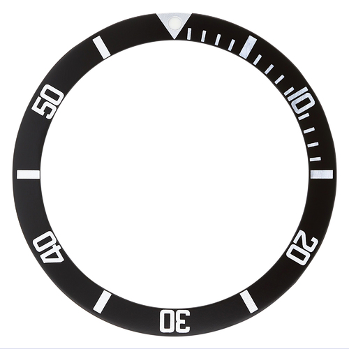 REPLACEMENT BEZEL INSERT BLACK FOR WATCH 34.90MM X 28.60MM