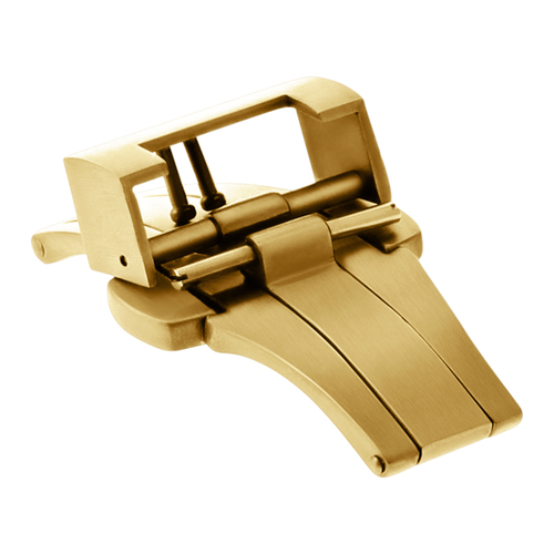22MM DEPLOYMENT BUCKLE CLASP FOR THICK 3.5MM 5.5MM STRAP 40MM PANERAI GOLD #A4