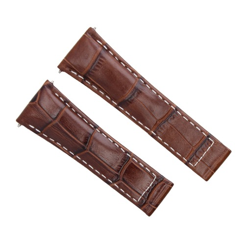 20MM NEW LEATHER STRAP BAND FOR ROLEX DAYTONA 16518 116518 L/BROWN WS SHORT
