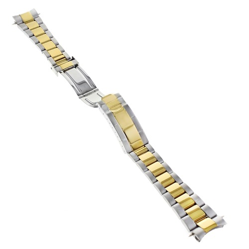 OYSTER WATCH BAND BRACELET SUBMARINER GOLD/STAINLESS STEEL FOR ROLEX 19MM D/C