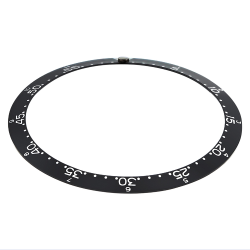 REPLACEMENT BEZEL INSERT BLACK W/PEARL FOR WATCH 39MM X 31.80MM