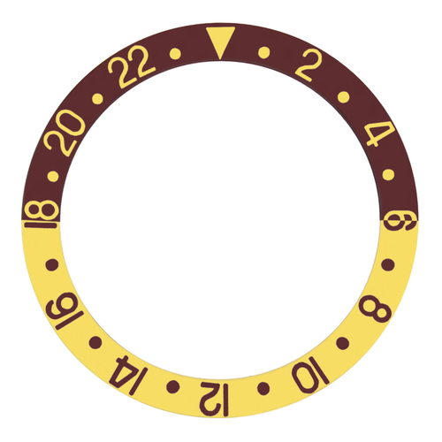 BEZEL INSERT ALUMINUM FOR ROLEX GMT SAPAHIRE 16700 16713 16718 16760 BROWN/GOLD