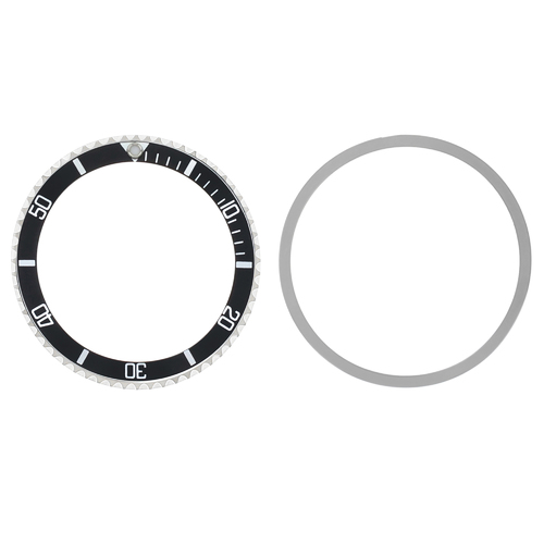 BEZEL +INSERT FOR TUDOR SUBMARINER 7928 7016 94010 9411 94010 76100 9411/0 BLACK