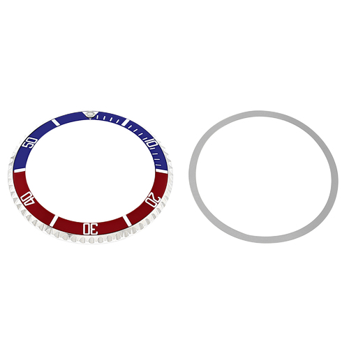 BEZEL+ INSERT FOR TUDOR  SUBMARINER 9401 7928 7016 76100 94110 7528 BLUE/RED