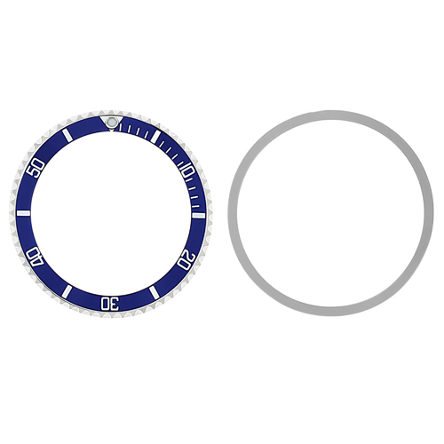 BEZEL + INSERT FOR ROLEX SUBMARINER 7016, 76100, 94010 , 94110 INSTALLED BLUE