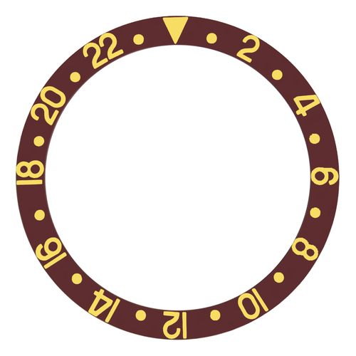 BEZEL INSERT ALUMINUM FOR ROLEX GMT MASTER I 1670 1675 16750 16753 BROWN G/FONT