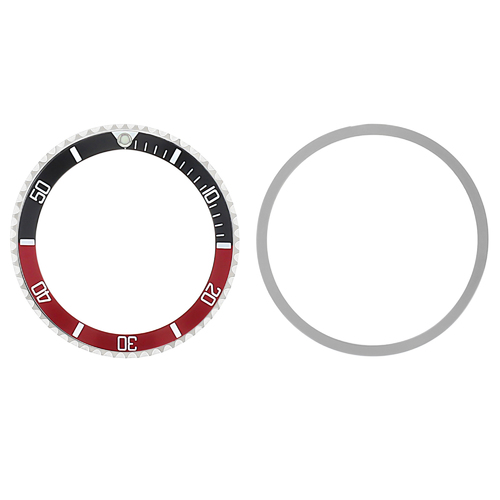 BEZEL + INSERT FOR  ROLEX SUBMARINER 76100 94010 WATCH INSTALLED BLACK/RED