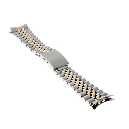 JUBILEE WATCHBAND FOR 34MM ROLEX MEN DATE 1500 AIRKING  REAL GOLD 14K/SS 19MM