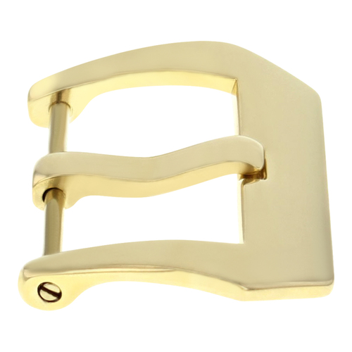 22MM STRAP PRE-V SCREW BUCKLE IPG GOLD FOR PANERAI 40MM MARINA FIT RUBBER BAND