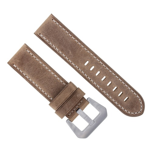 24MM COW LEATHER WATCH BAND STRAP FOR 45MM ANONIMO NAUTILO WATCH SAND WS