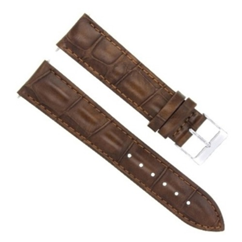 19Mm Light Brown Genuine Leather Strap Band For Vacheron Constantin