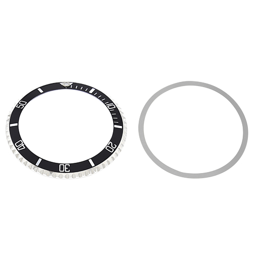 WATCH BEZEL RING + INSERT FOR OLD ROLEX SUBMARINER 5508 5512 5513 1680 BLACK