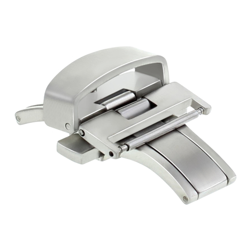 22MM DEPLOYMENT BUCKLE CLASP FOR THICKER LEATHER STRAP 3.5MM-5.5MM THICKNESS
