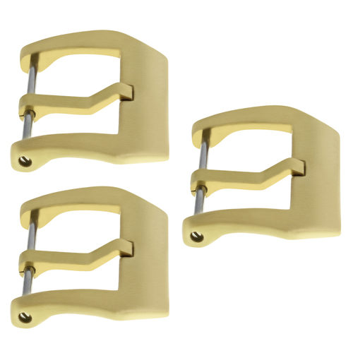 3-22MM BRONZE PRE-V-SCREW IN BUCKLE FOR 40MM PANERAI PAM LEATHER STRAP BAND