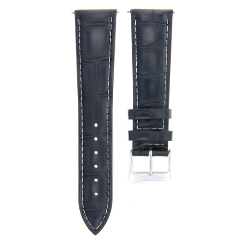 19MM LEATHER WATCH BAND STRAP FOR ROLEX AIRKING 5700 5701 WATCH DARK BLUE WS