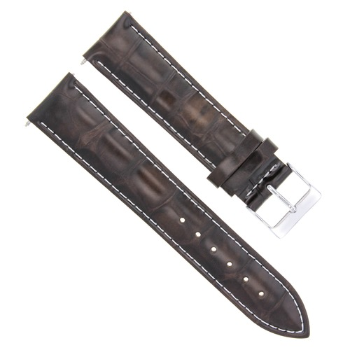 20/16MM LEATHER WATCH STRAP BAND FOR ROLEX DATE DATEJUST 16013 16014 D/BROWN WS