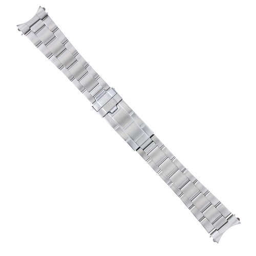 20MM OYSTER WATCH BAND SOLID LINK FOR FORTIS CHRONO REF:605.22.142 FLIP LOCK SS