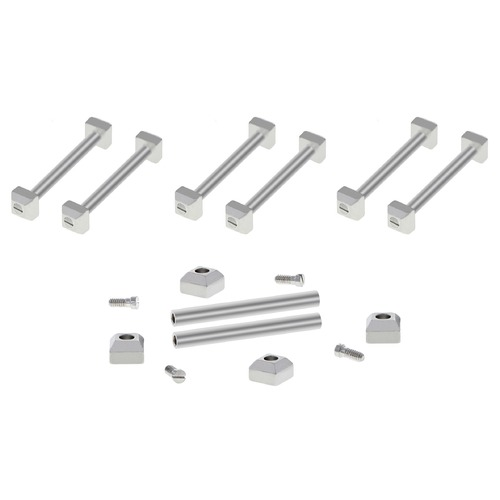3 SET SCREW,TUBE PIN,BLOCK FOR CARTIER PASHA STRAP BAND BRACELET BAND FIT 17MM