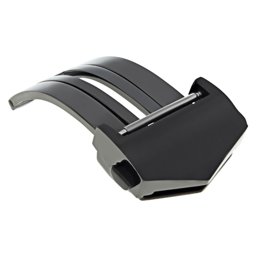 18MM DEPLOYMENT LEATHER BAND BUCKLE CLASP FC5014 FOR TAG HEUER CARRERA BLACK  #9