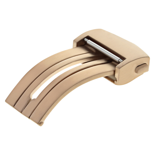 18MM DEPLOYMENT LEATHER STRAP BAND BUCKLE FOR TAG HEUER CARRERA FC5014 ROSE