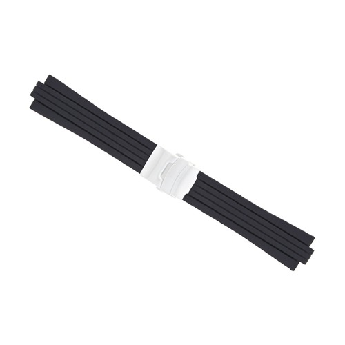 24MM 11MM TOP QUALITY SOFT PU RUBBER DIVER STRAP BAND FOR ORIS TT2 F1 40.5MM