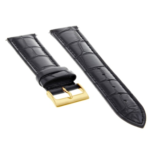 20MM LEATHER WATCH STRAP BAND FOR 36MM ROLEX 16013 16014 16233 16234 BLACK GOLD