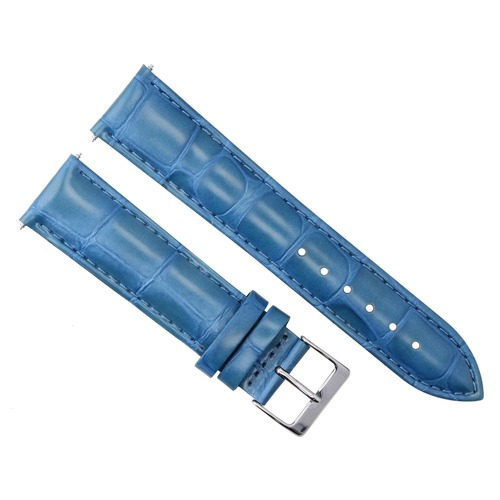 19MM LEATHER WATCH STRAP BAND FOR MENS PATEK PHILLIPE WATCH LIGHT BLUE