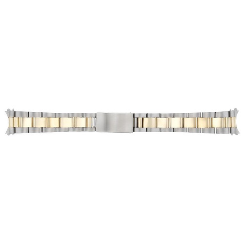 MIDSIZE 18K/SS OYSTER WATCH BAND BRACELET FOR 31MM ROLEX MIDSIZE WATCH 17MM