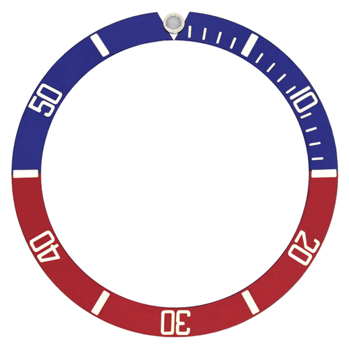 BEZEL INSERT FOR 40MM INVICTA PRO DIVER QUARTZ WATCH RED/BLUE PEPSI TOP QUALITY