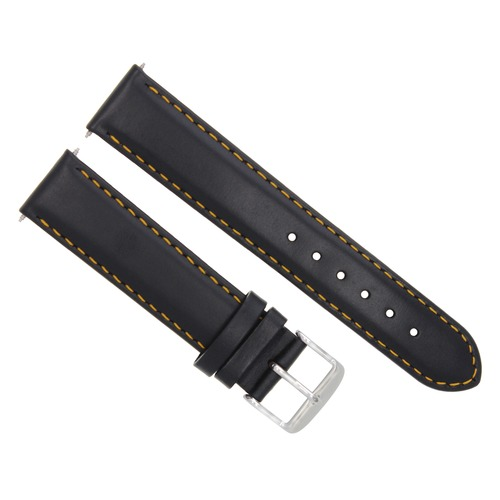 18MM SMOOTH LEATHER WATCH STRAP BAND BRACELET FOR MONTBLANC WATCH BLACK OS