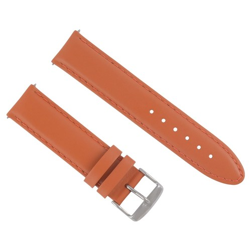 18MM LEATHER STRAP SMOOTH  BAND FOR MONTBLANC WATCH ORANGE #4