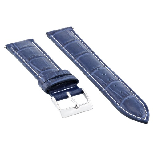 19MM LEATHER WATCH STRAP BAND FOR ROLEX AIRKING 1505 14000 19/16MM BLUE WHITE ST