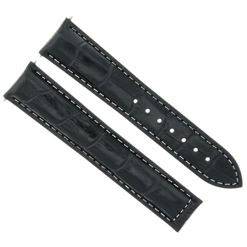 22/18MM LEATHER BAND STRAP FOR BAUME MERCIER CLASSIMA 8692 8733 XL BLACK WS