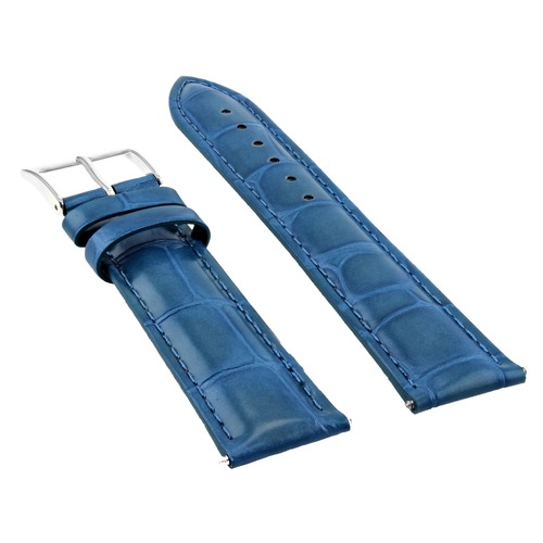 19MM LEATHER WATCH BAND STRAP FOR 34MM ROLEX DATE AIR KING 1400 14010 LIGHT BLUE