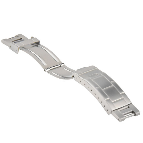 FLIP LOCK BUCKLE CLASP FOR ROLEX OYSTER BAND BRACELET BRUSHED STAINLESS STEEL