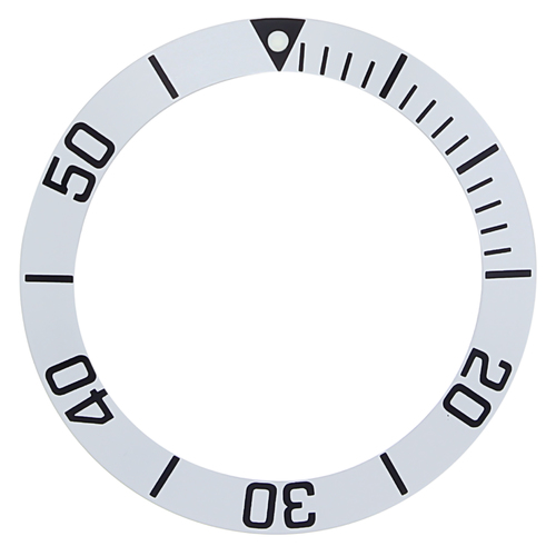 REPLACEMENT BEZEL INSERT SILVER FOR WATCH 38.90MM X 30.10MM