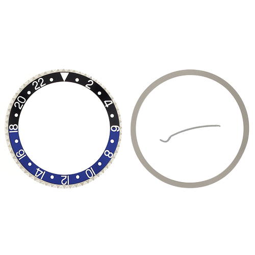 BEZEL & INSERT FOR ROLEX GMT 16700 16710 16713 16718 16760 BATMAN BLACK/BLUE