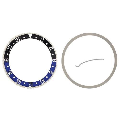 BEZEL & INSERT FOR ROLEX GMT 16700,16710,16713,16718,16760 BATMAN BLACK/BLUE