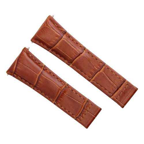 20MM LEATHER STRAP BAND FOR ROLEX DAYTONA WATCH 116520 COGNAC / TAN REGULAR