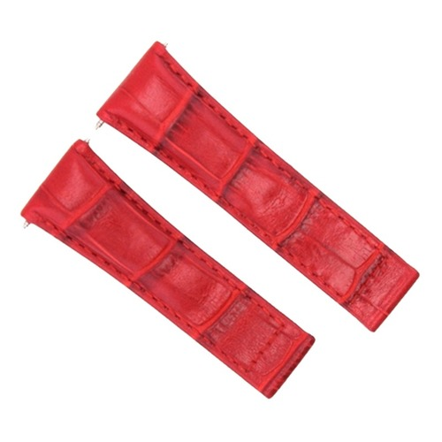 LEATHER STRAP BAND FOR ROLEX DAYTONA WATCH 16518 16520 116519 116520 RED SHORT