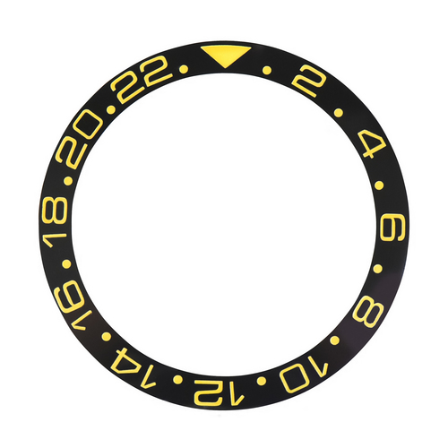 BEZEL INSERT CERAMIC FOR ROLEX GMT SAPAHIRE 16700,16710,16718,16760 BLACK GOLD F