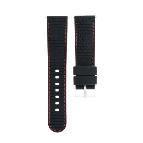 22MM RUBBER WATCH BAND STRAP FOR SEIKO SKX007 SKX009 SKX175 SKX176 BLACK RED