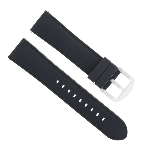 20MM SILICONE RUBBER DIVER WATCH BAND STRAP FOR CROTON WATCH BLACK